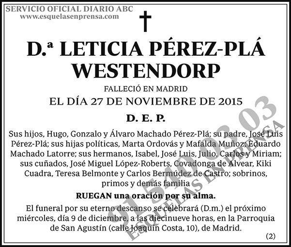 Leticia Pérez-Plá Westendorp